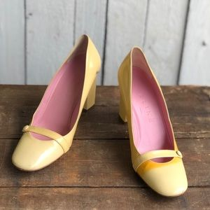 CELINE Yellow Pumps
